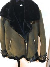 202ti年新式仿皮ba毛皮毛一体男士宽松外套皮衣夹克翻领机车服