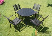 田园实ti花园户外家so防腐组合欧式阳台桌椅套件庭院露台悠闲