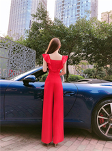 202ti夏新式名媛so装连身阔腿裤显高显身材收腰潮流减龄连体裤