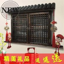 电表箱ti饰假窗户中so配电箱电闸遮挡盒实木古典墙壁壁◆定制