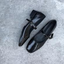 阿Q哥ti 软!软!ic丽珍方头复古芭蕾女鞋软软舒适玛丽珍单鞋