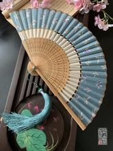 中国风ti节扇折叠布zx风旗袍汉服(小)折扇子随身便携夏季女舞蹈