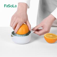日本家tj水果(小)型迷df橙汁神器挤柠柠檬果汁榨汁器