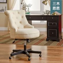 书桌电tj椅现代轻奢lc的座椅现代轻奢书桌椅省空间