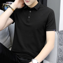 短袖ttj男装潮牌潮nz黑色夏季针织翻领POLO衫简约半袖上衣服W