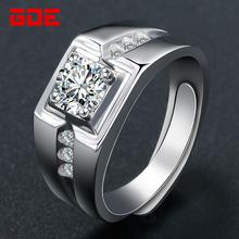 [tjqf]男士戒指纯银镀白金开口个