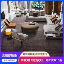 客厅现tl简约北欧沙nm欧式美式纯色卧室满铺房间家用定制