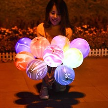 圣诞节tl光气球lew8会亮灯带灯微商地推荧光(小)礼品广告定活动