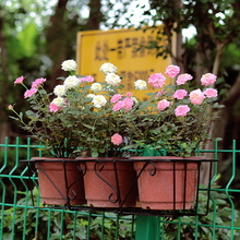 阳台绿tm花卉花架悬fo杆花架配托长方形花盆架阳台种菜多肉架