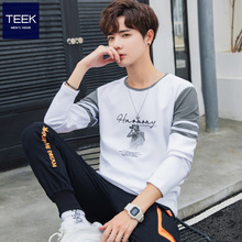 2021新式春季男士长袖t恤tn11棉 春wl年内搭春装打底衫上衣