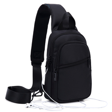 斜挎包to胸包insst跨大容量休闲牛津布背包腰包多功能单肩包