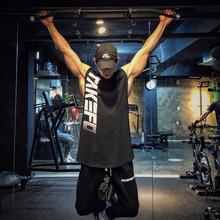 肌肉队to健身潮牌背tt弟夏季跑步篮球训练坎肩无袖T恤运动服