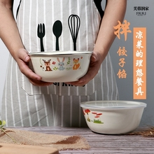 加厚搪to碗带盖怀旧or老式熬药汤盆菜碗家用电磁炉燃气灶通用