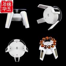 镜面迷to(小)型珠宝首ko拍照道具电动旋转展示台转盘底座展示架