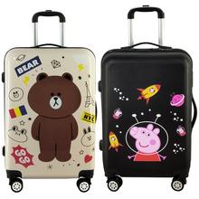 涂鸦卡通行李箱万向轮韩版可爱大小