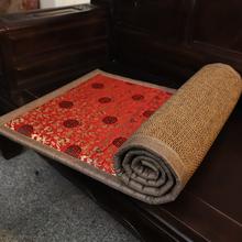 红木沙to坐垫中式凉mu床沙发垫实木家具椅子垫套定做四季通用