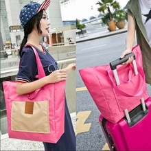 帆布旅to袋包衣物整re容量收纳袋可跨行李箱手提包