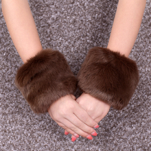 冬季保暖毛毛袖套可爱仿獭兔毛假袖to13女仿皮el手腕套包邮