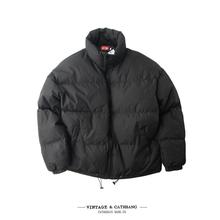 冬季保to加厚男式潮mi宽松复古立领棉服棉衣轻盈短式面包服