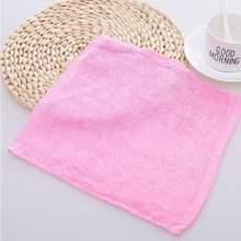 20条to】除油不粘on巾纯棉木纤维彩色方巾(小)毛巾厨房抹布。