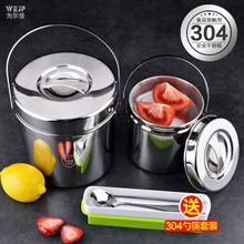 304to锈钢饭缸提ch手提饭桶三层大容量便携便当饭盒餐保温桶