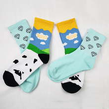 两双潮袜球鞋定制DUNK Sto11冰淇淋to薄荷绿蒂芙尼纯棉中筒袜子