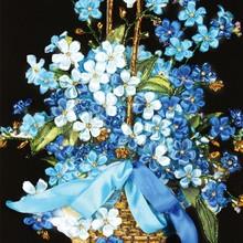 丝带绣新式花卉手工刺绣diy材to12包立体jo件简单客厅挂画