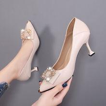 41大码女鞋春季中跟气质