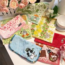 日本卡tp可爱龙猫魔ld巾 手帕纯棉