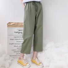 夏装女tp019新式ld分裤哈伦裤高腰美式学生休闲裤薄萌