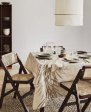 久伴ItpS北欧复古ld背折叠餐椅藤编餐厅酒店阳台简约家用椅子