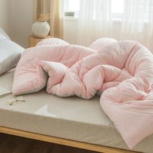 裸睡天tp棉春秋被子jf厚保暖全棉纯棉针织棉空调被夏凉被芯