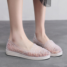夏季新tp水晶洞洞鞋jf滩休闲平跟平底软底防滑包头套脚凉鞋