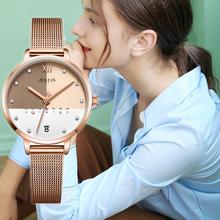 显白女表ins正品韩国时尚女士腕tp13森女网re防水日历手表