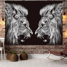 北欧狮子背景布ins挂布