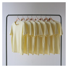 夏季薄式芝士黄奶酪黄tr7油黄淡黄ek短袖t恤 男 女bf风宽松潮