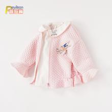 民族风tr一1-2-wi童初春装春秋冬女童宝宝外套公主婴儿洋气开衫