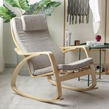 阳台波tr摇椅实木椅na椅孕妇懒的椅逍遥休闲椅北欧家居