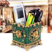 创意笔tr收纳盒时尚na北欧化妆笔筒摆件复古中国风树脂摆件