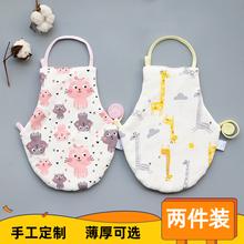 宝宝婴儿肚兜纯tr秋冬新生儿es厚保暖护肚围0-2-3岁四季通用