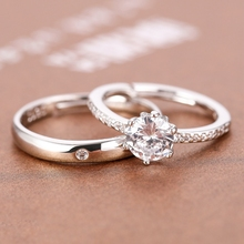 结婚典tr当天用的假el具婚戒仪式仿真钻戒可调节一对对戒