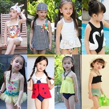 [tsxqn]小公主儿童泳衣女童连体裙式遮肚女