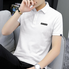 夏季短ttt恤男潮牌77ns针织翻领POLO衫白色简约百搭上衣服半袖