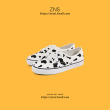 ZNStt典牛奶白色avns帆布鞋女学生韩款港风百搭休闲(小)清新布鞋