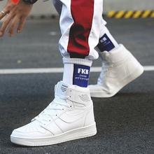 空军一tt女鞋男鞋2qn新式春季高帮百搭运动蓝球鞋潮鞋情侣式全白