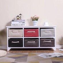 卧室收tt柜子实木床qy型简易藤编抽屉式储物夹缝置物柜
