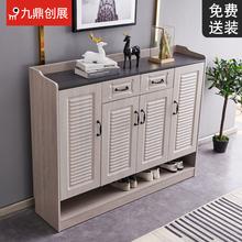 鞋柜实tt轻奢家用进wn约现代门厅柜大容量玄关鞋柜收纳柜子
