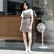 Leettonsanbn19夏季新品豹纹短式吊带性感女1329002