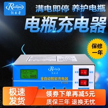 锐立普tt12v充电rs车电瓶充电器汽车通用干水铅酸蓄电池充电