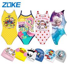 zoke儿童泳衣卡通紫色